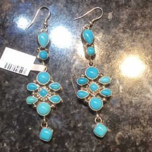 Sterling Silver Dangle Earrings With Turquoise